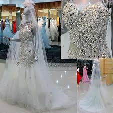 rhinestone wedding dress. Real Picture Korean Crystal Rhinestone Wedding Dress Mermaid
