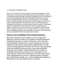 a project report on working analysis of organisation in real estate  chapter 1 7 1 1 general introduction real estate