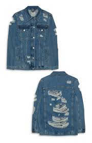 ripped oversized denim jacket