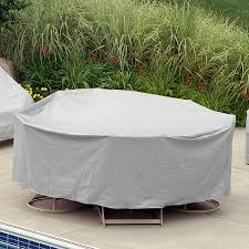 72 to 76 table 6 high back chairs patio set cover gray pc1346 gr cozydays