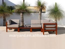 outdoor wooden sofa.  Wooden Outdoor Teak Wood Sofa Set With Water Resistant Cushion On Outdoor Wooden Sofa