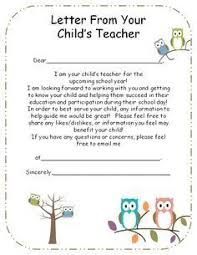 letter from teacher to parents introduction letter to parents from preschool teacher google