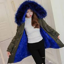 blue faux fur coat women jacket winter parkas big fur hooded warm outwear thcker clothes warm flannel girl las clothing hot by yerter