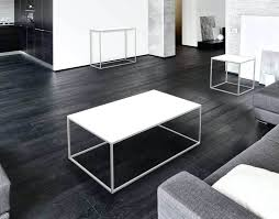 coffee table black and white julia coffee table from akante white acid etched black frame not