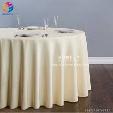hotel banquet cotton party white wedding round table cloth for event