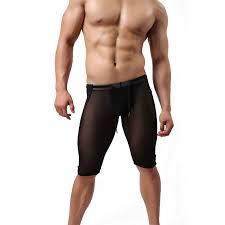 <b>GANYANR Brand Swimming Trunks</b> Men Boxer Racing Long Sexy ...