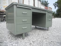 office desk vintage. free shipping vintage metallic green metal tanker office desk steelcase mid century modern idustrial
