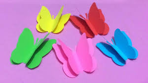 How To Make Butterfly With Color Paper Making Paper Butterflies Step By Step Diy Paper Crafts