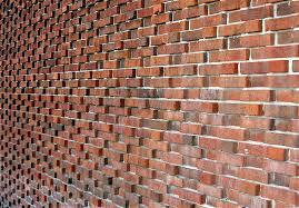 Wall of textured bricks