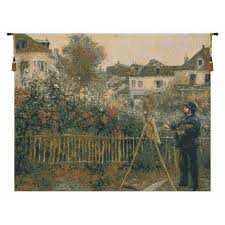 claude monet painting in his garden
