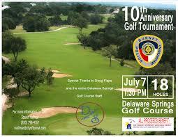 10Th Annual Burnet Pd Golf Tournament - Delaware Springs Golf Course