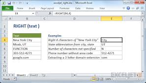 excel functions how to use the excel right function exceljet