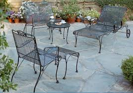 cleaning wrought iron chair garden sets