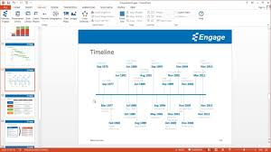 How To Create Timeline Chart In Powerpoint Create A Timeline Chart Using The Engage Powerpoint Add In