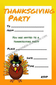 Thanksgiving Invites Kids Thanksgiving Invitations Free Printable Invites