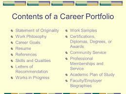 Career Portfolios Ppt Video Online Download