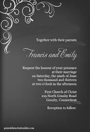 Easy Invitation Templates Free Pdf Download Chalkboard Invitation Template Can Be
