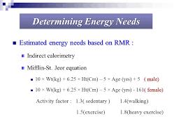 mifflin st jeor equation calculator activity factor tessshlo