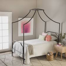 full size of twin canopy diy metal white with curtains size wooden design incredible the pewter