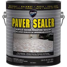 Dyco Paints Paver Sealer 1 Gal 7200 Clear Gloss Exterior Solvent Exterior Clear Coat Over Acrylic Paint