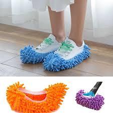 <b>1PC</b> Single Chenille Mop Wipe Slippers <b>Shoes Lazy Shoe</b> Mop ...