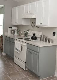 two tone kitchen cabinets rustoleum cabinet transformation kit seaside on  the bottom and linen on the