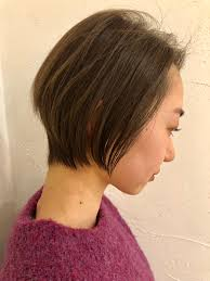オススメな髪型ショートボブ尾道三原周辺の美容室美容院ならhair
