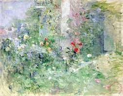 the garden at bougival painting berthe morisot the garden at bougival art print