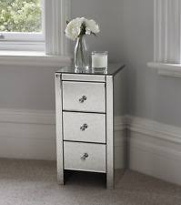 vegas white glass mirrored bedside tables. Venetian Mirrored Glass Bedside Table With 3 Drawers And Handles Mirror Fu Vegas White Tables G