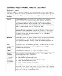 Requirement Analysis Template Classy Business Requirements Document Template Unique Software Requirement