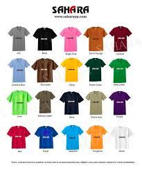 T Shirt Color Chart T Shirt Printers In Uae Uae Quality Tshirt Prnting Service