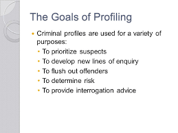 chapter criminal profiling questions from my last lecture youth  7 the goals of profiling criminal profiles are used for a variety of purposes