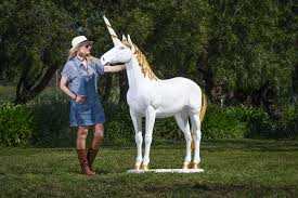 life size unicorns magical theme prop hire melbourne geelong adelaide sydney