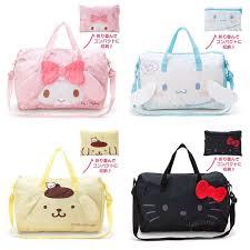Fashion <b>Foldable</b> Cute <b>Cartoon</b> Luggage Travel Bag Hello Kitty ...