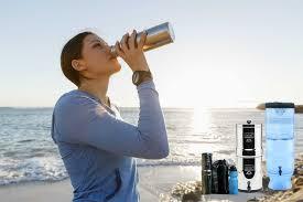 berkey water filter fluoride. Travel Berkey Water Filter W/ Black \u0026 Fluoride Filters, Bottle- For L