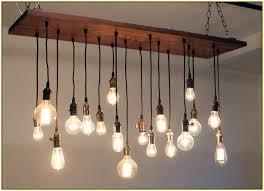 classy of hanging bulb chandelier hanging edison
