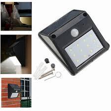 12 led solar powered pir motion sensor light outdoor garden security wall light