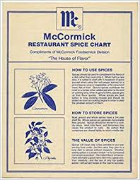 Mccormick Restaurant Spice Chart Amazon Com Books