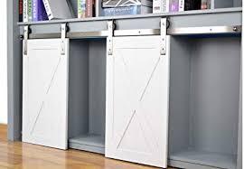 diyhd 60 brushed stainless steel mini strap cabinet barn door hardware to hang 2 door