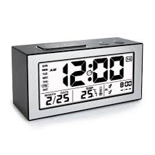 Digital Time Clock For Lighting Digital Lcd Alarm Clock With Time Date Week Temperature Night Lights Display