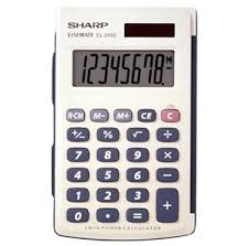 sharp el sab basic solar powered four function calculator sharp el 243sb solar powered calculator large display