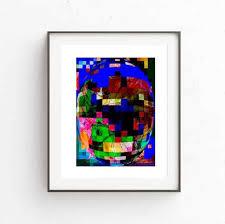colorful oval 3d abstraction digital downloadable art wall art printable women gift printable  on 3d wall art woman with colorful oval 3d abstraction digital downloadable art wall art