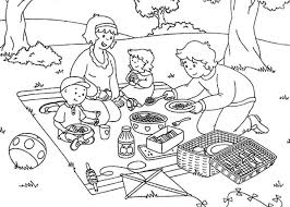 Small Picture Picnic Coloring Pages Printable Picnic Coloring Page