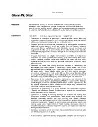 Heavy Equipment Operator Resume Sample Good Skills Must Include In  Objective Statements 10 Heavy Equipment Operator ...