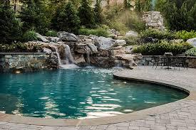 Pool Small Inground Pool Ideas Waterfalls 4 Large Rock Waterfalls