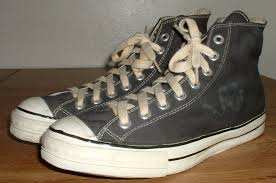 converse vintage shoes. 11 converse vintage shoes angled side view of coach black high tops. v