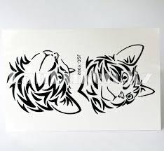 временная татуировка Jsc 3d Tattoo Stickers тату рисунок кошки Y002 103х182см черный