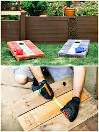 Game With Rocks And Wooden Board 100 Best DIY Outdoor Games For Summer Spring DIY Crafts 86