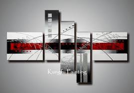 2018 100 hand painted modern red black and white abstract art group oil painting unframed wall art canvas high qu from kfpainting 59 3 dhgate com