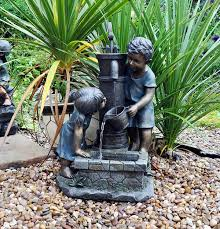 small garden water features outdoor patio wicker furniture